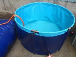 De de flexibele Tank of Vijver van Koi van het Geteerde zeildoek van pvc van de Tank van het Kweken van vis