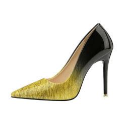 Tallone di cuoio di gomma della signora Fancy Photos Woman Shoes di sicurezza delle ragazze di modo alto