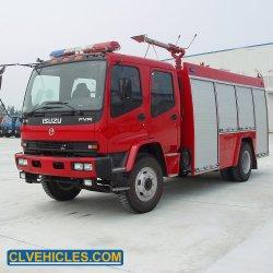 De Brandkraan van Fvr 8000litres van Isuzu en de Tanker van het Vuurwater