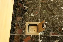 Les boîtes de poudre de prise électrique de boîte de sockets pour&soulevées en acier inoxydable d'accès