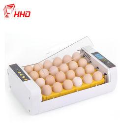 Incubatrice piccola di giro automatica Yz-24A dell'uovo del pollo del pollame 24 di marca di Hhd