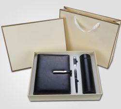 Büro-Briefpapier-Notizbuch-Metallfeder-Blitz-Laufwerkthermos-Geschäfts-Geschenk-Set