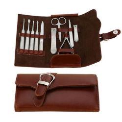 Nuevo estilo 10 Piezas Set Kit de Manicura de cuero