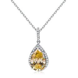 Moda 925 Sterling Silver Star pera precioso colgante de piedras de colores