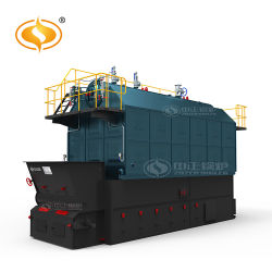 8000kg/h chaîne horizontale industriel Assmbled Au Charbon Chaudière à vapeur