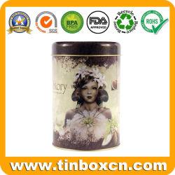Don tin box de metal de embalaje Lata Redonda de té puede