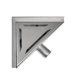 Roestvrijstalen driehoekvloerafvoer