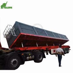 3 L'essieu côté hydrauliques du chariot tracteur semi remorque de décharge de dumping