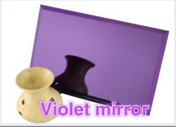 Off-line miroir teinté de couleur couché/ panneau miroir décoratif pour le commerce de gros