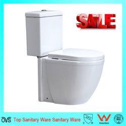 Keramische Badezimmer-weiße Farben-zweiteilige keramische Toilette