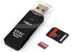 Super Alta velocidad 2 en 1 SD USB3.0 SIM Card Reader micro SDXC TF de T-Flash compacto lector de tarjetas de memoria