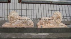 Jardin de granit Art Animal Grand jardin pour Lion statue de pierre Sculpture Statue/sculptures