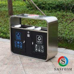 Lo scomparto residuo dell'acciaio inossidabile ricicla la pattumiera dei rifiuti