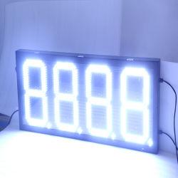 شاشة علامة السعر LED لمحطة البنزين أحادية اللون مقاس 8 بوصات