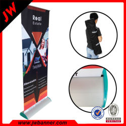 Banner Stand Display Bannerの上のフルカラーのPrinting Trade Show Roll
