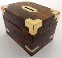 Don personnalisé cachés Boîte d'argent en bois