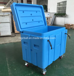 Dry Ice Container Rubber Buckleの高密度のPE Insulated BoxのMagicball 325L TransportおよびStorage