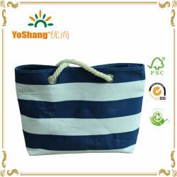 2016熱い販売の簡単な波パターンキャンバス浜袋のショッピング・バッグ