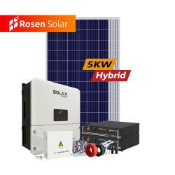 5000 와트 잡종 격자 잡종 태양풍 태양 에너지 시스템 5kw