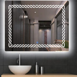 A poupança de energia de banho Decoração de parede LED Espelho Lignt Smart toque no interruptor Espelho Inicial