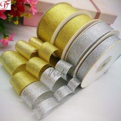 Geweven Gouden en Zilveren MetaalLint met Genoeg Voorraad