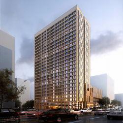 De hoge Buitenkant die van de Architectuur van het Bureau van de Stijging Visualisatie teruggeven