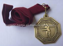 Medalhão de Voleibol personalizadas e processo de Bronze Antigo