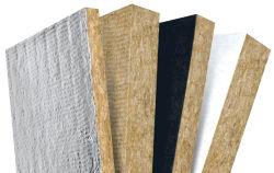 Revêtement en isolation thermique Panneau en laine de roche en fibre de verre en aluminium
