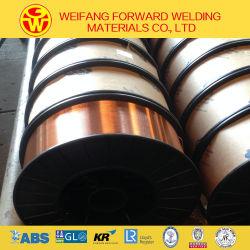 La AWS ER70S-6 Cable de soldadura de cobre blindado de gas de la soldadura de oro sólido proveedor Er50-6 OEM
