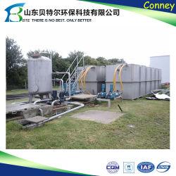 Planta de Tratamiento de Aguas Residuales integrada de metro y por encima del suelo
