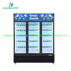 Preto Beverage-Air Merchandiser de porta de vidro de giro refrigerado com iluminação de LED