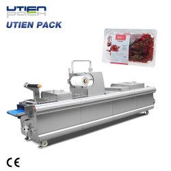Le thermoformage sous vide automatique d'usine de gaz de remplissage Flush Package/Pack/emballage/la machine de conditionnement