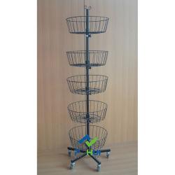 5 Compartimento de arame de aço da Fiação da camada de brinquedos de pelúcia Visor rack metálicas (PHY205)