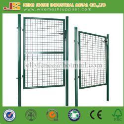 Usine de haute qualité de sortie de 100x100cm Post ronde Wire Mesh Fence Garden Gate porte clôture soudé