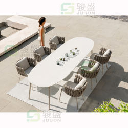 椅子を食事する熱い販売の現代ホテルの家具の屋外の家具のテラスのダイニングテーブルの一定の藤の庭の一定の居間