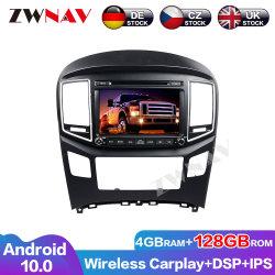 4 Joueur Carplay+128g Android pour Hyundai H1 Grand Royale I800 2016 2017 2018 2019 2020 Navi GPS Auto Radio audio stéréo de l'unité de tête