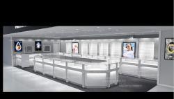 La conception de bijoux en diamants Showroom/Bijouterie Design Intérieur/Bijouterie Vitrine d'affichage