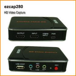 Registratore componente di bloccaggio 1080P HDMI YPbPr di bloccaggio HD del gioco di HD video nel USB Disk-Ezcap280