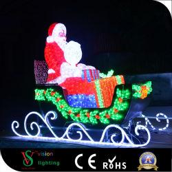 Decoração de Natal Santa Claus luzes LED