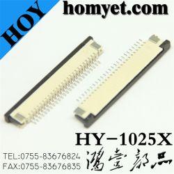 1.0mmピッチ25 Pinの引出しのタイプFPCのコネクター(HY-1025X)
