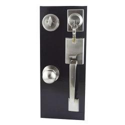 Entrée de la poignée de porte avant Handleset pêne dormant et dispositif de verrouillage du vérin unique Slim pêne dormant de poignée de porte