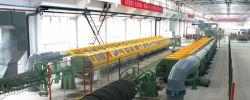 Linea di produzione di trefoli in acciaio con rivestimento epossidico