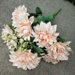 Groothandel Artificial 10 Heads Dahlia Flower Bouquet for Wedding