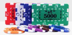 カスタム長方形のABS正方形値のカジノのポーカー用のチップはセットした