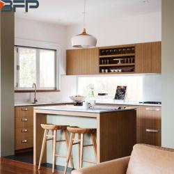 Nouveau produit du grain du bois stratifié les armoires de cuisine