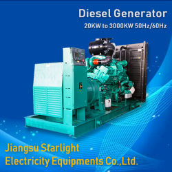 1000kw Cummins 디젤 엔진 전기 발전기 Kta38-G9 1250kVA 대기 발전기 ISO 8528 기준