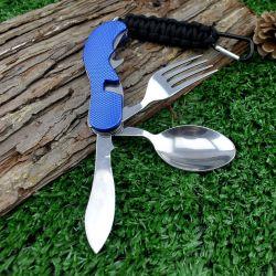 Cucchiaio piegante multifunzionale esterno portatile della lama dell'acciaio inossidabile degli articoli per la tavola del Amazon