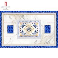 Синий Sodalite драгоценных камней Джаспера струей воды из гранита мрамора медальон плитками на полу