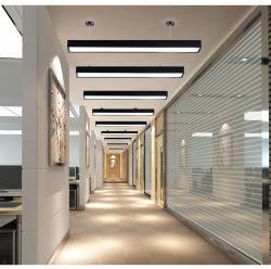 Del LED del fornitore della decorazione del supermercato del magazzino dell'ufficio LED nuovo LED indicatore luminoso lineare della camera di equilibrio di illuminazione 2019 residenziali chiari Pendant lineari dell'interno chiari lineari