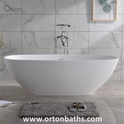 Sanitaires modernes ovale Ware Surface solide baignoire pour le marché de Dubaï